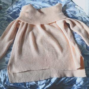 Off shoulder jumper sweater